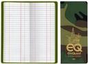 Custom Oil & Pipe Long Tally Book - Camouflage Vinyl, 3 1/2