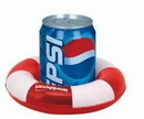 Custom Inflatable Two Tone Life Preserver Shape Drink Holder