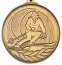 Custom 500 Series Stock Medal (Ski) Gold, Silver, Bronze