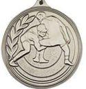 Custom 500 Series Stock Medal (Male Wrestling) Gold, Silver, Bronze