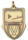 Custom 100 Series Stock Medal (Billiards) Gold, Silver, Bronze