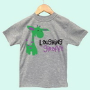 Custom The Laughing Giraffe&#174 Short Sleeve Poly/Cotton Infant Crew Neck T-Shirt - Heather
