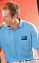Custom Light Heather Grays Stedman By Hanes 50/50 Jersey Knit Shirt w/ Pocket