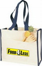 Custom Large Grocery Canvas Tote Bag w/ Front Pocket
