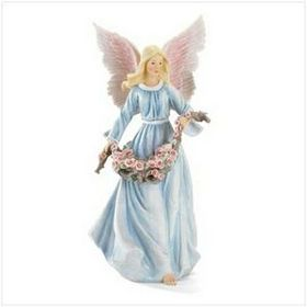 "8 1/4"" L x 8 3/4"" W x 18 1/4"" H Polyresin Angel Figurine, Price/piece"