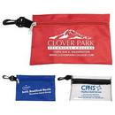 Custom Large Zipper Pouch w/ Plastic Hook