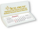 Custom Maxi-Cal Large Stand-Up Desk Calendar w/ Pad on Bottom