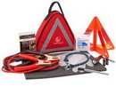 Custom Triangle Automobile Safety Kit in 3-Sided Polyester Case (29 Piece Set)