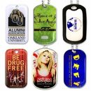 Custom Litho 4-Color Process Printed Dog Tag on Aluminum