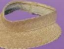 Custom Ladies Straw Visor w/ Velcro Closure