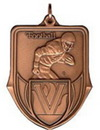 Custom 100 Series Stock Medal (Football Player) Gold, Silver, Bronze