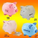 Custom Color Ceramic Collectible Mini Cute Piggy Bank, 3.75