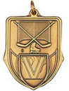 Custom 100 Series Stock Medal (Inline Hockey) Gold, Silver, Bronze