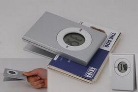 Silver Plastic Clip W/Clock, Price/piece