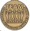 Custom 500 Series Stock Medal (TEAM) Gold, Silver, Bronze