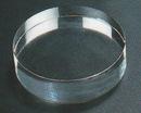 Custom Round Hockey Puck Paperweight - Optic Crystal (2 3/4