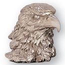 Blank Bright Silver Resin Eagle Head W/1/4