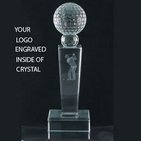 Sports Trophy w/Inside 3D Logo Engraving, Price/piece