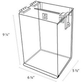 Ballot box 6'' w x 9'' h x 5'' d w/hasp & hangers to mount, Price/piece