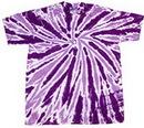 Blank Purple Twist Tye Dye T-Shirt