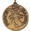 Custom Peace On Earth Ornament/ Medallion (Angel W/ Horn) Brass or Nickel