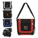 Custom B-6318 Messenger Bag with Front Zipper Pocket, Ipod Port, Velcro Closure, Organizer Under Flap