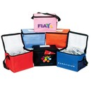 Custom B-6508 Lunch Bag-6 Can Cooler, Front Pocket, Side Mesh Pocket, ID Holder with Card On Top