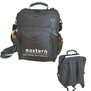 B-8364 Computer Briefcase & Backpack, 600D Polyester w/Heavy Vinyl Backing