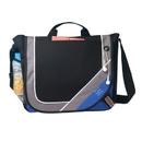 Custom B-8377 Deluxe Messenger Bag, 600D Polyester w/Heavy Vinyl Backing