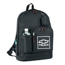 Custom B-8411 Double Zippered Main Compartment, Bottle Holder and Coin Pack 600D Polyester w/Heavy Vinyl Backing