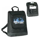 Custom B-8433 Computer Backpack w/Leather-Like Bottom Padded Computer Holder w/Velcro Secure Straps