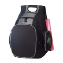 Custom B-8448 Deluxe Side Entry Computer Backpack Material: 600D Polyester/420D Dobby Nylon