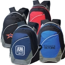 Custom B-8449 Deluxe Poly Backpack Material: 600D Polyester/420D Dobby Nylon