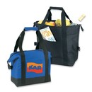 Custom B-8514 Insulated Pinic Cooler Bag with Front Pocket and Zippered Closure 600D Polyester with Heavy Vinyl Backing