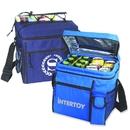 Custom B-8522 24 Pack Cooler Bag with Detachable Leak-Proof Liner Front Cellphone Pocket
