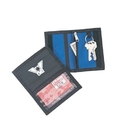 Custom B-8601 Key Chain Wallet Zipper Pocket and Clear Window Velcro Closure 420D Nylon