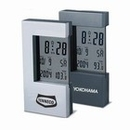 Custom CM-1007 Heavy Zinc Alloy Large Lcd Display Clock with Thermometer F or C Readout, Alarm with Snooze Function