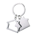 Custom KM-7011 Shiny Nickel-Plated &#34, Airplane&#34, Key Holder with Hang Tag