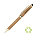 Custom PP-135P Eco Friendly Bamboo Pencil with Black and Gold Accents