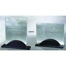 Custom 850WD1 The Alfa Jade Glass Awards, Glass Panel w/ black wood base 8