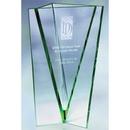 Custom CGBVS02 The Alfa Vase Award Collection, Jade Glass Vase 4 1/4