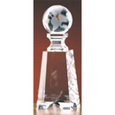 Custom CGG27 The Alfa Crystal Collection, Crystal Globe on Tower 2 1/2