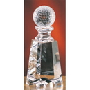 Custom CGT27 The Alfa Crystal Collection, Crystal Golf Ball on Tower 2 1/2