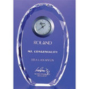 Custom COCLK37 The Alfa Crystal Clock Collection, Crystal Faceted Oval Clock 4