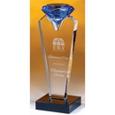 Custom COCRD8 The Alfa Crystal Diamond Collection, Blue Rising Diamond 2 1/2