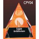 Custom CPY04 The Alfa Crystal Collection, Crystal Pyramid 3 3/4
