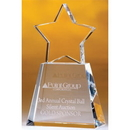 Custom CS06C The Alfa Crystal Star Collection, Clear Star on Clear Base 3 1/2