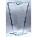 Custom CSFVS01 The Alfa Vase Award Collection, Starfire Glass Vase 7 3/4