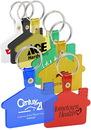 Custom House Soft Plastic Key Tag