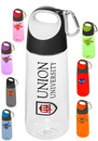 Custom Pg158 Plastic Water Bottles With Carabiner